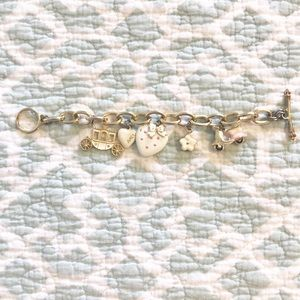 COPY - Juicy Couture Charm Bracelet Gold White Pi…
